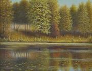 Rosko Осенний парк. 2008 год. Масло,  холст,  размер 45х35.