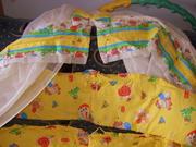 Продам балдахин,  держатель и бортики для детской кроватки. Все в идеал
