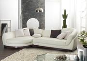 Петуния диван ,  белая кожа,  угловой