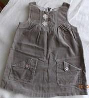 Платье в мелкий вельвет,  возраст 1-3 лет,