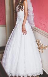 Шикарное белое Свадебное платье по низкой цене