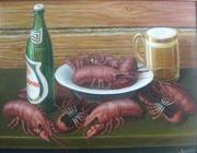 картина Раки с пивом
