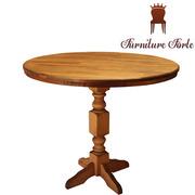 Стол круглый деревянный