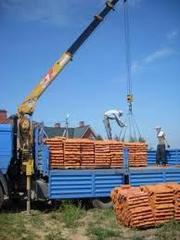Перевозка кирпича,  бетонных плит,  блоков по Житомиру и облас