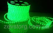 Светодиодный дюралайт LED-2W-100-240V (36 св. /м,  АС 220 В,  Зеленый)