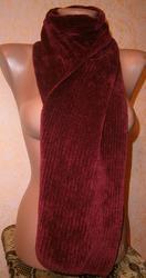 Бордовый матовый шарф