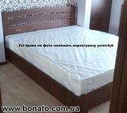 Деревянная кровать с подъёмным механизмом + матрас