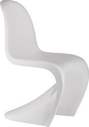 Дизайнерский стул Пантон,  белый пластик