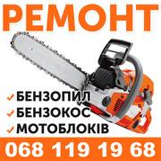 Ремонт бензопил,  бензокос,  газонокосарок,  мотоблоків у Бердичеві